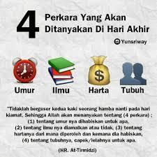 4 Perkara Yang Kelak Akan Ditanya Di Akherat