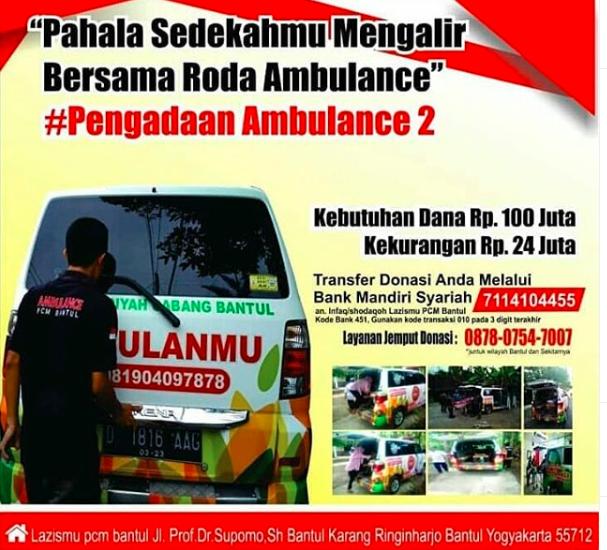 Warga Bantul Rasakan Manfaat Ambulance Lazismu