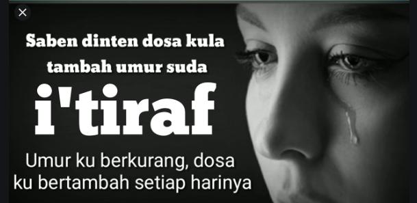 Al-i'tiraf (Sebuah Pengakuan)
